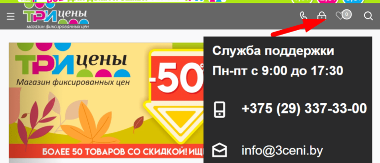 """Сайт магазина фиксированных цен """"3 Цены"""""""